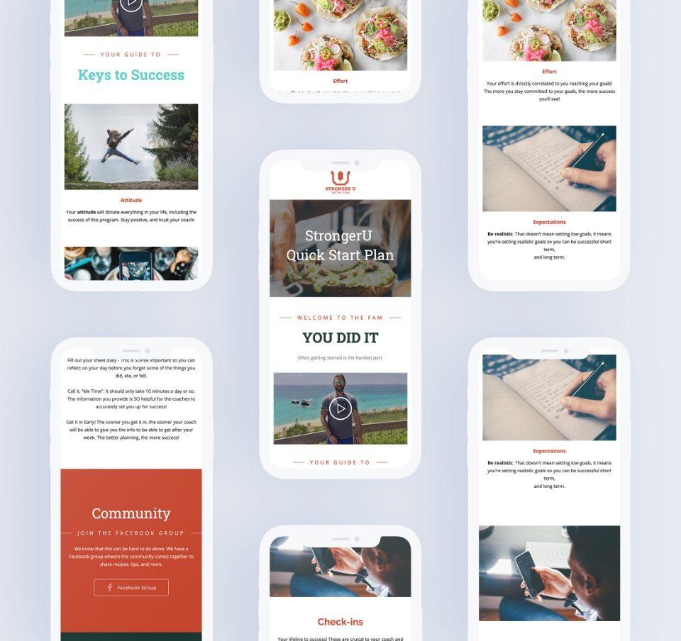 strongeru mockup landing page mobile design